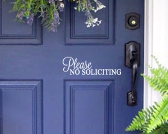No Soliciting Sign For Front Door Simple and Pretty Removable - Will not cause damage