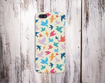 Colorful Birds Case for iPhone 7 iPhone 7S 5C iPhone 4 iPhone 4S and Samsung Galaxy  & s7 S8 Plus Phone Case, Google Pixel