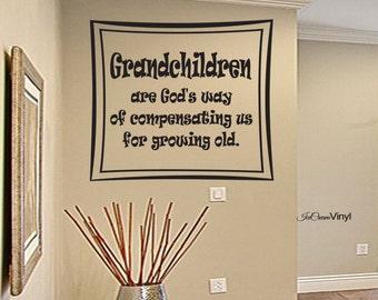 Grandchildren Wall Decal Famil Vinyl Home Decor Family Wall Art
