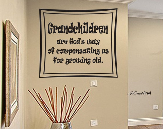 Grandchildren Wall Decal Famil Vinyl Home Decor Family Wall Art