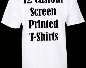 Custom printed t shirts with your design free by for Order screen printed shirts