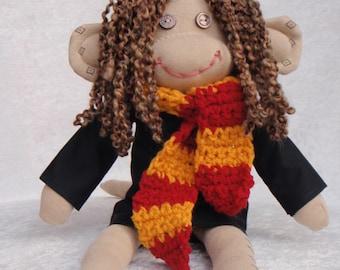 Sock Monkey / Hermione Granger / Harry Potter / Harry Potter Nursery / Harry Potter Gift / Harry Potter Baby / Harry Potter Baby Shower
