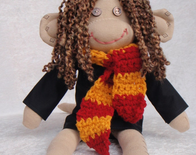 Featured listing image: Sock Monkey / Hermione Granger / Harry Potter / Harry Potter Nursery / Harry Potter Gift / Harry Potter Baby / Harry Potter Baby Shower