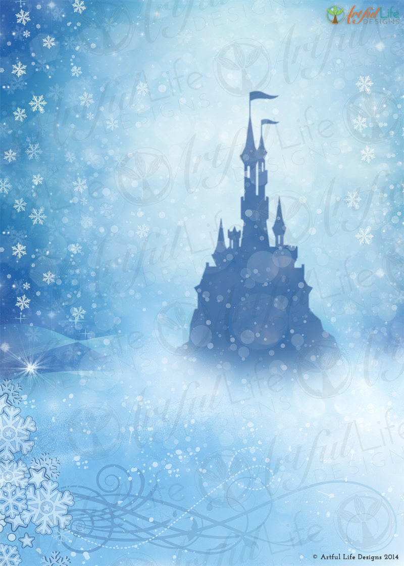 Princess frozen castle photo backdrop frozen by - Princesse frozen ...