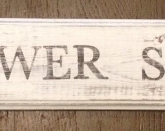 Rustic Flower Shop Sign