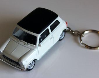 Morris Mini Cooper 1300 Die Cast On Key Chain