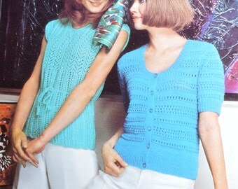 PDF vintage knitting pattern summer tops pdf download pattern only pdf 1970s