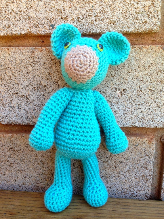 Adorable Blue Bear Etsy