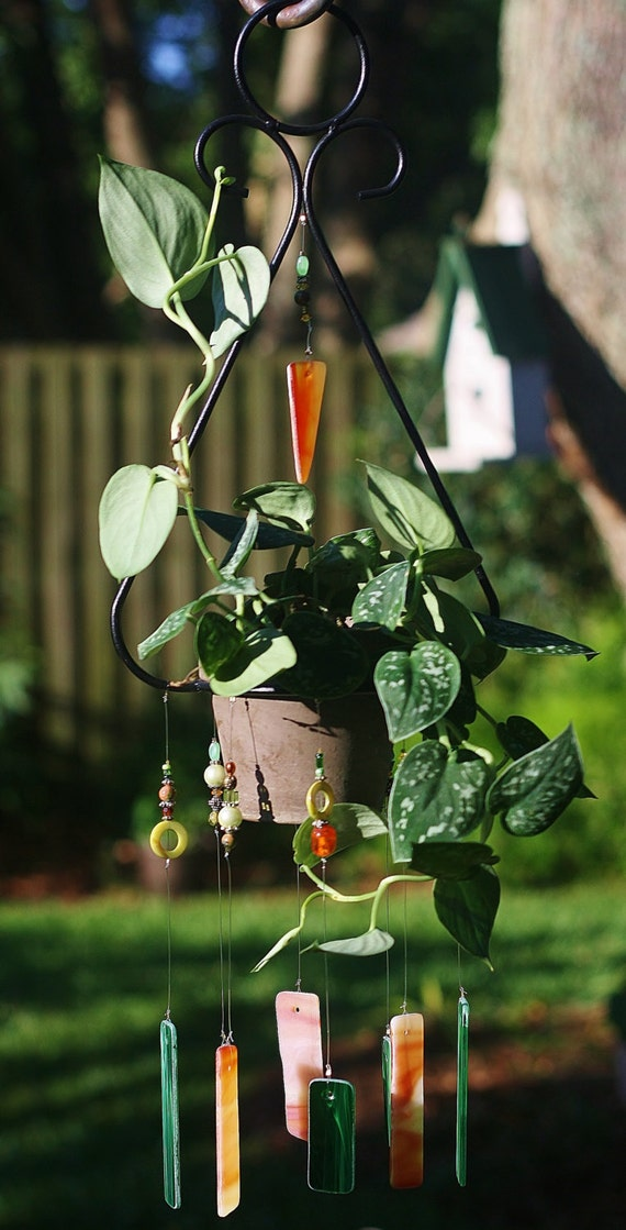 items similar to unique planter wind chime clementine. Black Bedroom Furniture Sets. Home Design Ideas