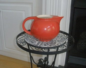 Beautiful 1930's Candy Apple Red Pitcher made by Universal Cambridge