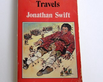 """Vintage 1983 Paperback Book """"Gulliver's Travels"""" by Jonathon Swift, A Watermill Classic"""