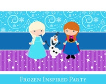 Frozen Pop Bottle Wrapper, Frozen Inspired, Pop Bottle printable, Pop Label Printable, Frozen Party Printable, Frozen Decorations