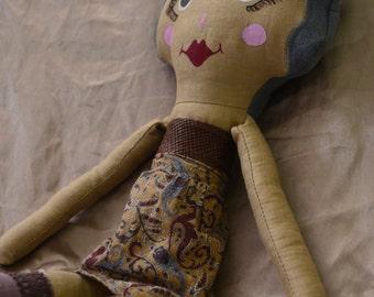 homemade fabric plush doll name grace