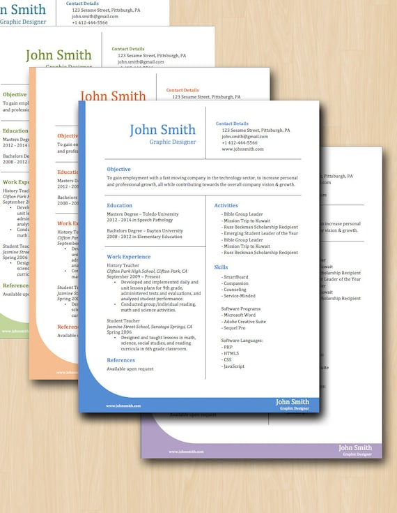 items similar to professional grid resume template