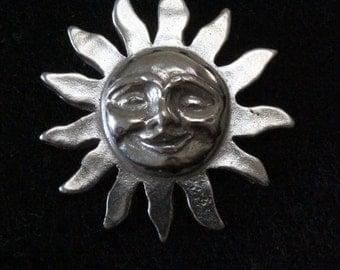 Smiling Sun - Sterling Silver Pendant