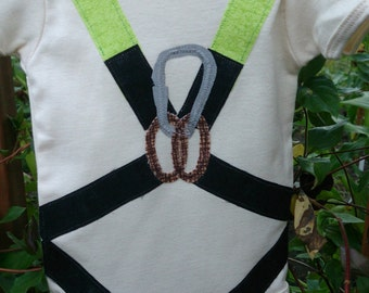 Organic Infant Bodysuit with Climbing Harness