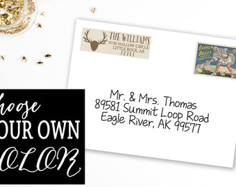 Personalized and Customizable Address Labels: Oh Deer