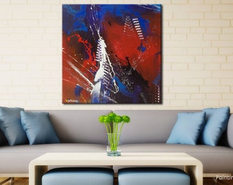 Large abstract painting Original Abstract painting Modern wall painting Modern paintings Canvas wall art Blue painting Contemporary
