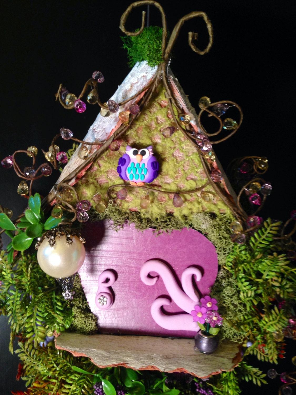 Purple hanging fairy door for Purple fairy door