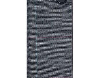 Gray Plaid Wool Pocket Square