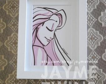 RAPUNZEL - 4x6 Print - Character Profile Series - Princess Set