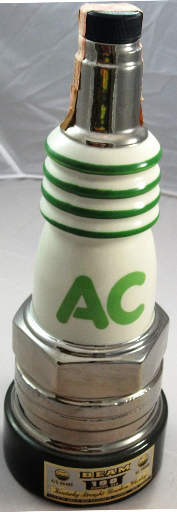 Vintage Jim Beam Decanter Ac Delco Spark Plug Fine Ceramic