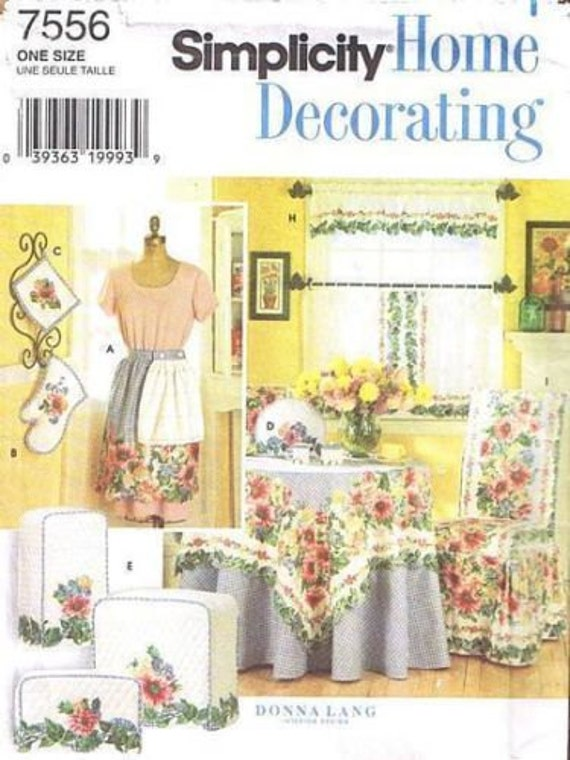 Https Www Etsy Com Listing 196064319 Simplicity Home Decorating Pattern 7556