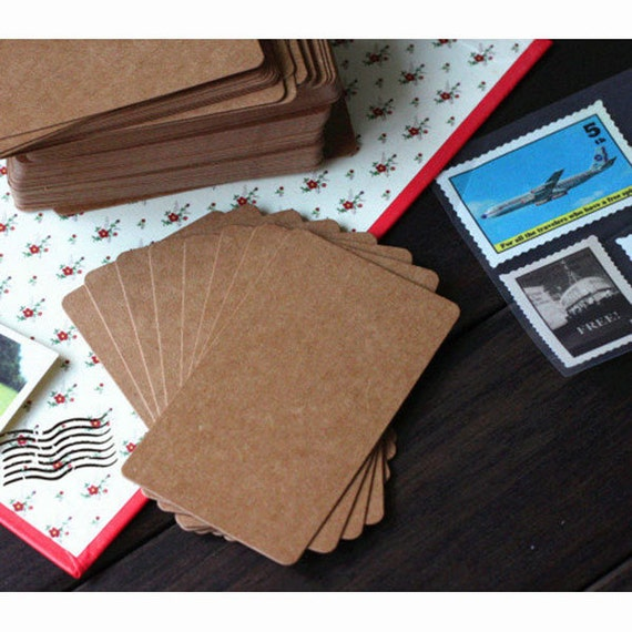 Kraft Paper Blank Business Cards Brown 20 pcs 9 x 5