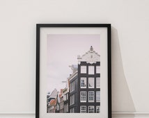 Amsterdam, Travel Photo Print - Dreamy Film, Netherlands, Holland - Dutch Architecture, Historical Buildings, Interesting View, Rooftops