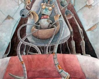Robot Queen - Print