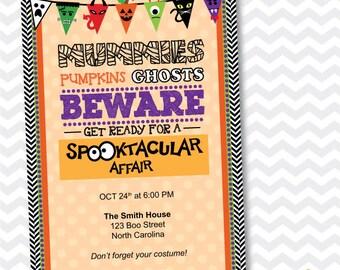 Halloween Party Invitation, Kids Halloween Party Invitation, Spooktacular Halloween Party