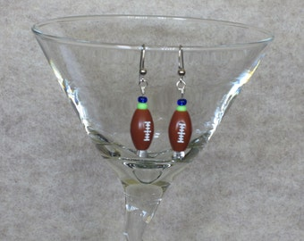 Football Earrings Inspired by the Seattle Seahawks