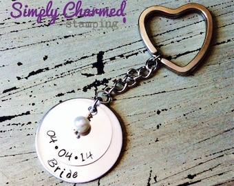 Bride Gift-Necklace/Keychain-Wedding Favor