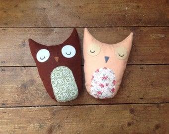 Stuffed toy owl, owl decoration, woodland theme, felt owl