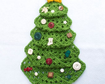 Christmas CROCHET PATTERN instant download -  Christmas Wall Hanging, Wall Decor, Christmas Decoration