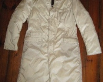 New Price # ADD vintage men quilted nylon/down coat # creme color # ' sz 48