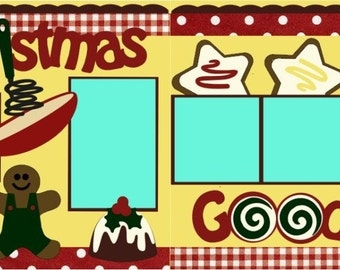 """Scrapbook 2 Page Layout """"Christmas Goodies"""""""