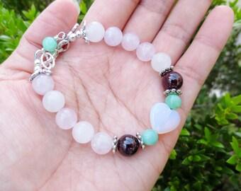 Fertility Bracelet for PCOS- Fertile HOPE for Women Struggling with PCOS , moonstone heart bracelet
