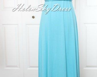 Blue Bridesmaid Dress Infinity Dress Blue long Wrap Convertible Dress