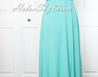 Turquoise green Bridesmaid Dress Wrap Infinity Dress Convertible Dress Formal Evening Gown