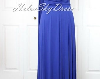 Bridesmaid Dress Royal blue Convertible Dress / infinity dress/ one shoulder bridesmaids dress