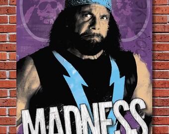 Madness: a Macho Man Randy Savage Art Print