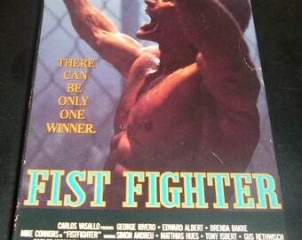Bare-fist Boxing Action Flick FIST FIGHTER vhs video 1988 WWF Superstar Billy Graham wwe awa Wrestler