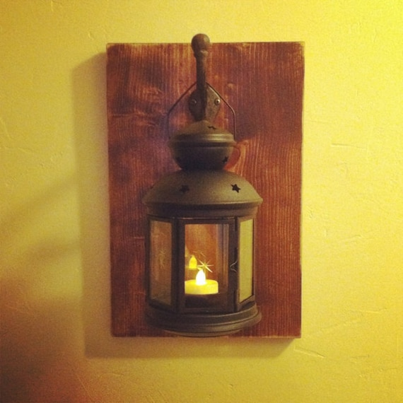 Wall Lantern Holder by JohansonFCreations on Etsy