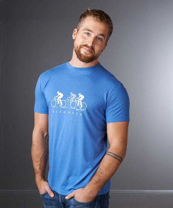 BIKE MORE Men's T shirt, Organic Bicycle Tshirt, Cycling Fitness T shirt, Ecofriendly Clothing, Mens Graphic Tee, Organic Clothing by Uni-T