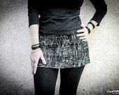 GRAPHITE - Industrial Edgy Mini Skirt Post Apocalyptic Dystopia Urban Decay