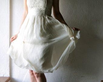 Wedding dress, Short wedding dress, alternative wedding dress, hippie wedding, boho wedding gown, ivory wedding dress, rustic wedding dress