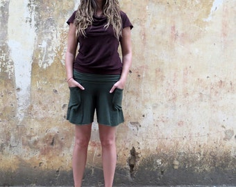 Organic Perfect Pockets Shorts ( light hemp and organic cotton knit ) :