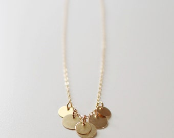 bellissima - gold coin necklace