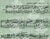 Digital Download Antique Music, Wedding March Bridal Song, Vintage graphic, digi stamp, Digital Transfer